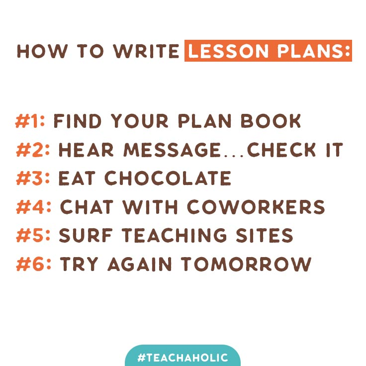 how to write lesson plan