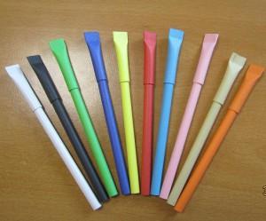 эко ручки из картона