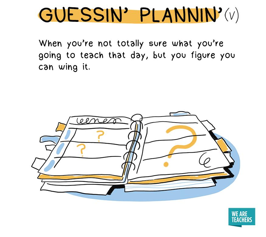 guessin plannin
