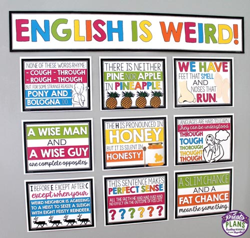english classroom posters