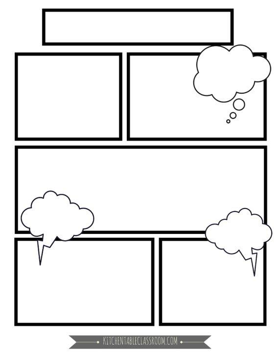 шаблон для комикса на урок английского