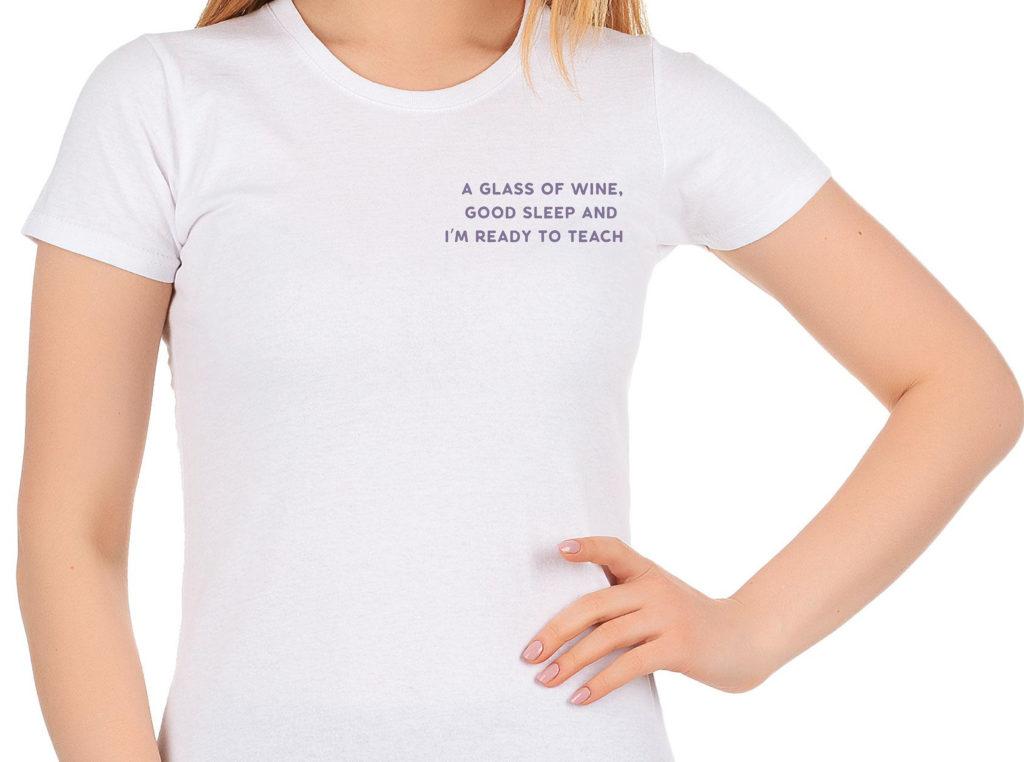футболка для учителя английского языка