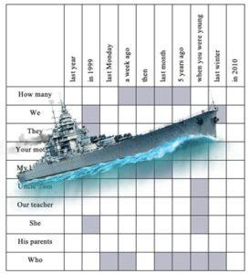 grammar battleship template