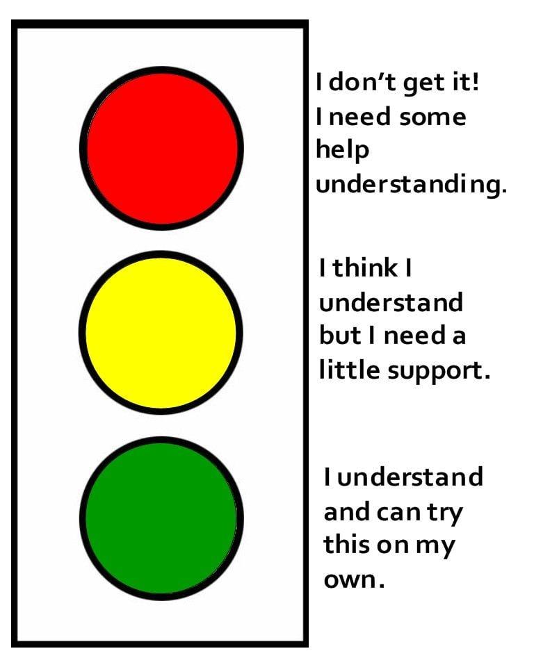 Traffic lights для урока английского